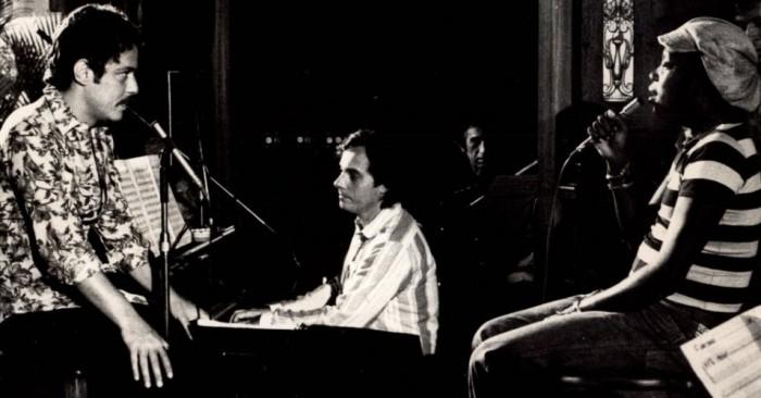 Chico Buarque, Milton Nascimiento et Francis Hime en 1977