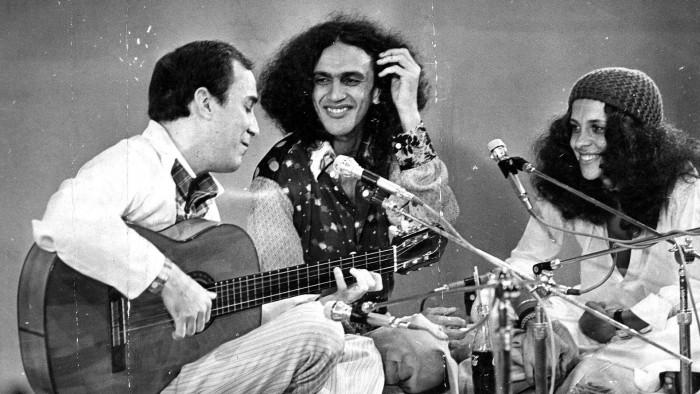 João Gilberto, Caetano Veloso et Gal Costa en 1971