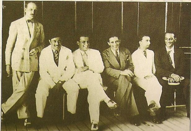 Peri Cunha, Mário Reis, Francisco Alves, Noel Rosa et Nonô.